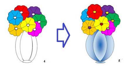 Рисуем вазу